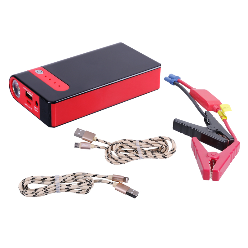 PUSHIDUN Car Battery Charger Starting Car Jump Starter Booster Power Bank With Ordinary Cable And One in One YuBao USB Cable