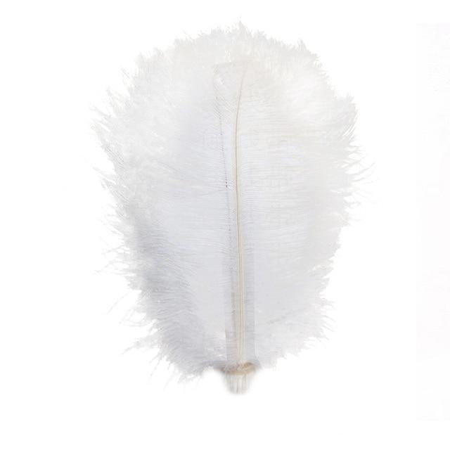 10pcs Lot Black Natural Hard Rod 15cm 20cm 25cm 30cm 35cm 40cm Ostrich Feathers Wedding Birthday Party Christmas Decorations