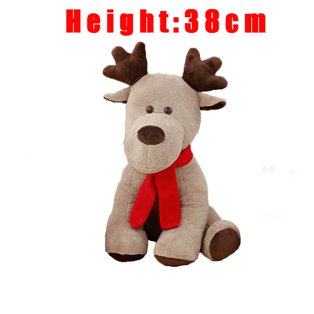 Stuffed Animal Soft Elk Toys Moose Creative Red Scarf Reindeer Plush Doll Kids toy Christmas new year gift toys for children