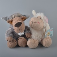 2 adet 25 cm nici beyaz koyunları ve gri kurt peluş oyuncak, bebek Çocuk Bebek Hediye Ücretsiz Kargo