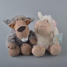 2Pcs 25cm NICI White Sheeps And Gray Wolf Stuffed Plush Toy Baby Kids Doll Gift Free