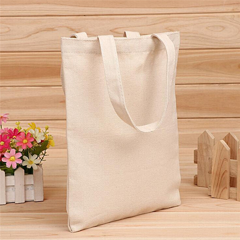 1PC Tote Bag Beach Hand Bag Eco Shopping Bag Daily Use Foldable Canvas Shoulder Bag Canvas Tote For Female