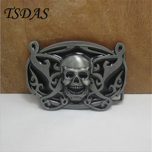 2016 New Style Zinc Alloy Skull Metal Belt Buckle Suit For 4 cm Wide Belt Men Ornament Accessories