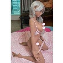 140cm Real Silicone Sex Dolls Skeleton Japanese Adult Mini Lifelike Oral Love Dolls Vagina Pussy Big Breast for Man Interesting