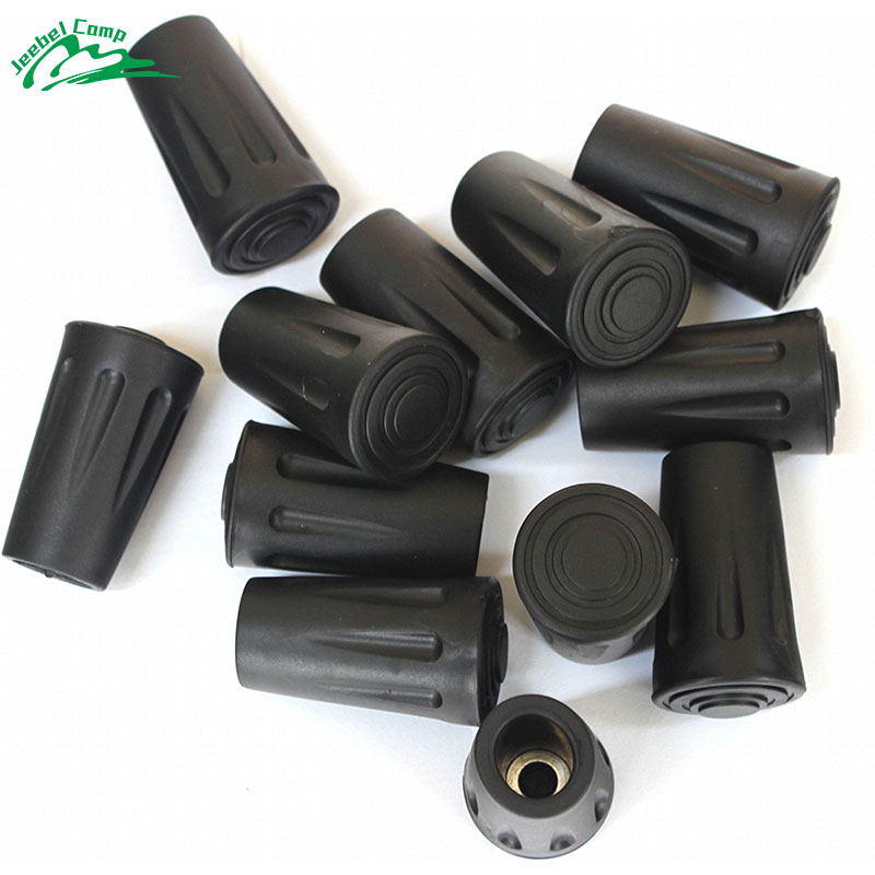 10Pcs Tip Protectors Walking Stick Bastones Trekking Poles Rubber Tips For Walking Canes Hiking Poles Accesories Anti-Slipping acecamp 2631 rubber tip head cover protector for trekking hiking stick black 2 pcs