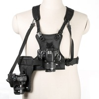 Multi Camera Photo Waist Strap Belt Carrier Harness Holster System Soft Padded Strap for Digital SLR Camera