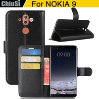 10 Pcs Lot Wallet PU Leather Case Cover For NOKIA 9 Flip Protective Phone Back Shell