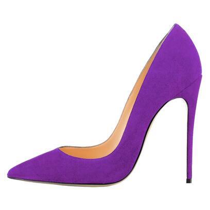 Purple High Heel Shoes
