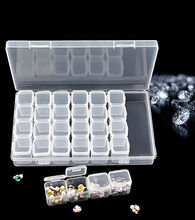 28 slots Diamond Painting Rhinestone Storage Box Nail Art Plastic Case Rings Accessories Display Container Organizer