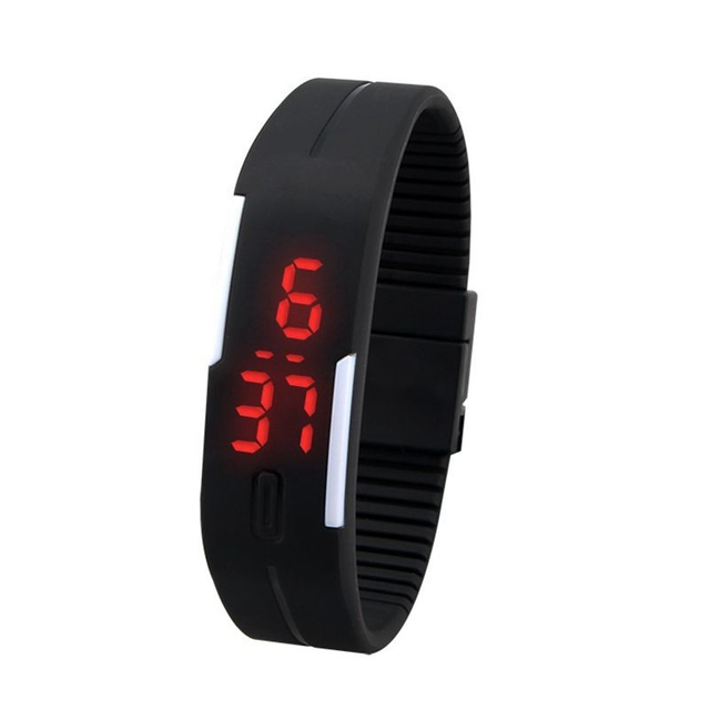 New Arrival Fashion Sport LED Watch Candy Color Silicone Rubber Touch Screen Dig