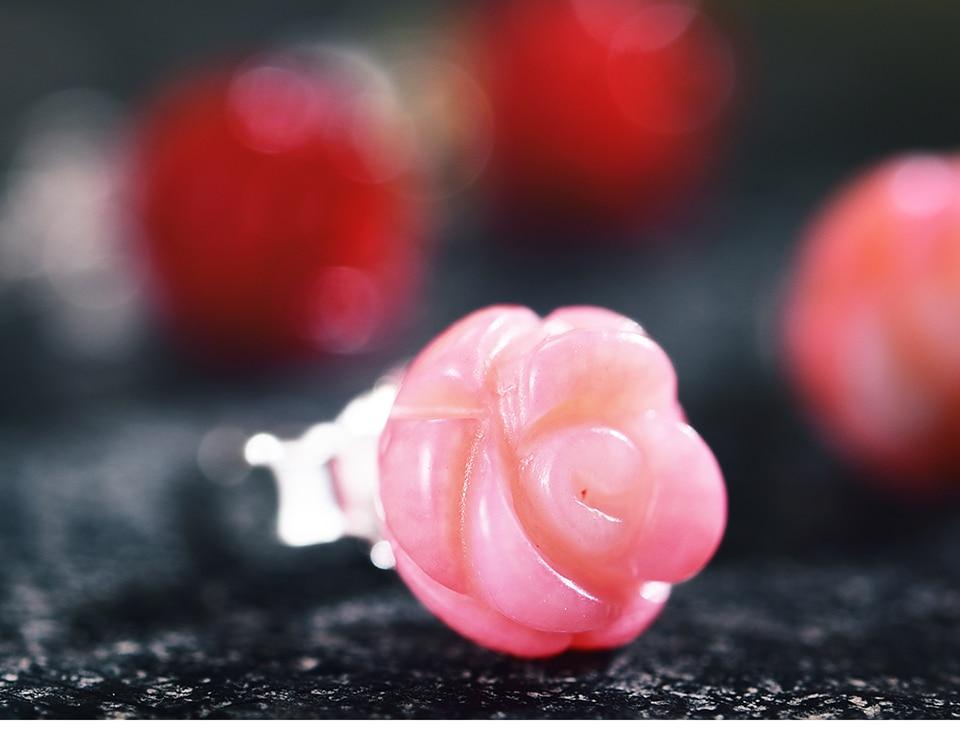 HTB1fMwgE9tYBeNjSspaq6yOOFXao Lotus Fun Real 925 Sterling Silver Natural Stone Creative Handmade Fine Jewelry Vintage Flower Stud Earrings for Women Brincos