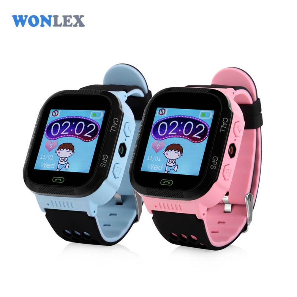 imágenes para Wonlex 1.44 pulgadas de pantalla táctil gps tracker reloj gw500s con linterna para Niños SOS Anti Perdido GSM Móvil Setracker APP