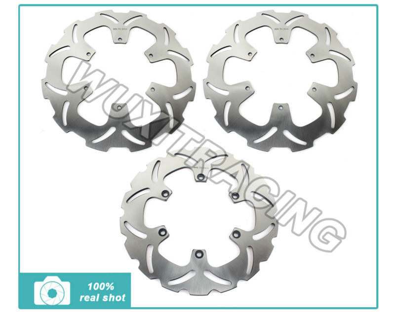 Front Rear Brake Disc Rotors For KTM LC8 ADVENTURE 950 990 S R 2002 2004 2006
