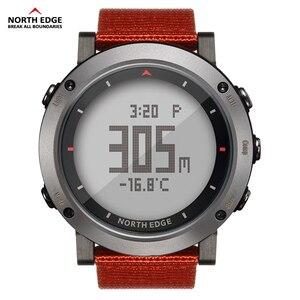 Image 5 - Esporte masculino relógio digital bandas de náilon horas running impermeável 50 m natação esporte relógios altímetro barômetro bússola masculino cor