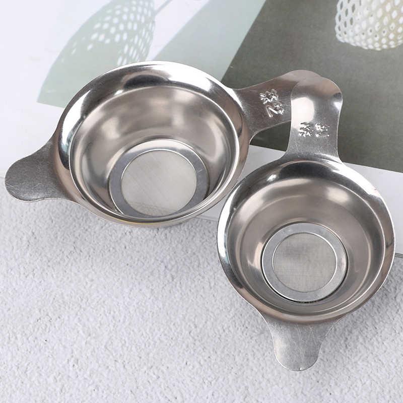 1 ピースステンレス鋼のティーストレーナー細かいメッシュ中国カンフー茶葉漏斗フィルター高品質