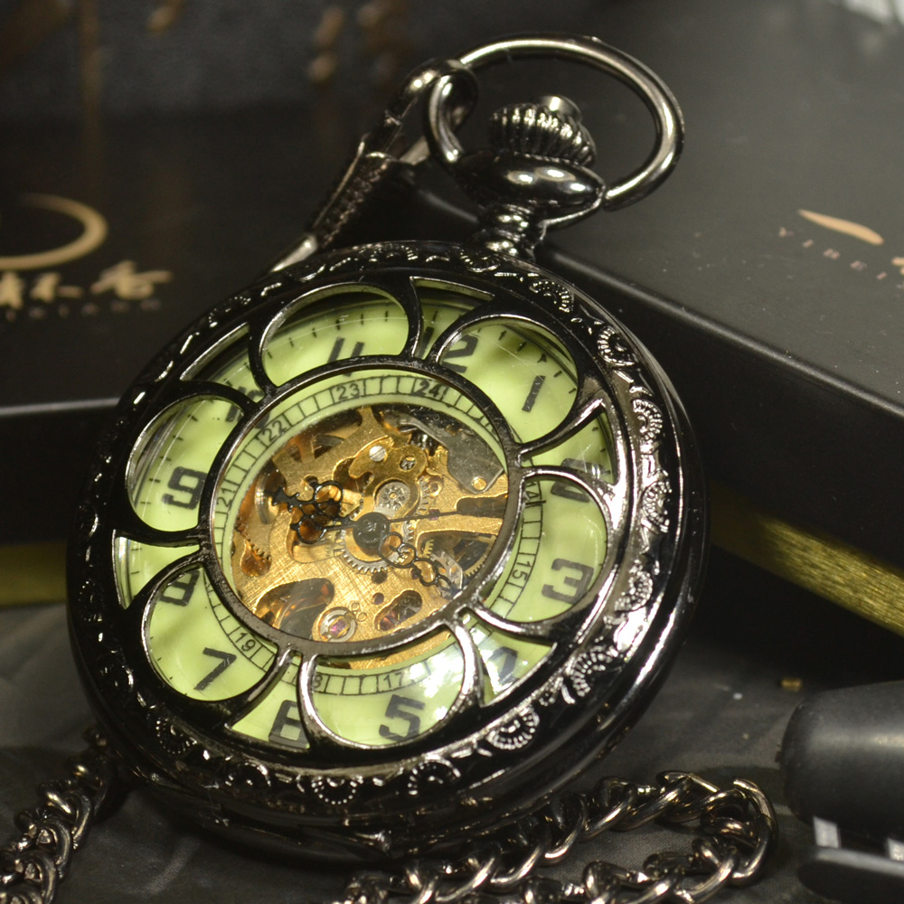 Luminous Mechanical Pocket Watch Steampunk Vintage Hollow Cover Analog Skeleton Hand Winding Mechanical Pocket Watch for Men new luminous mechanical pocket watch steampunk vintage hollow cover analog skeleton hand winding mechanical pocket watch for men