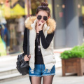 autumn winter Korean female models fur collar vest wild cotton vest down cotton hooded vest waistcoat wholesale women Y1021-52D