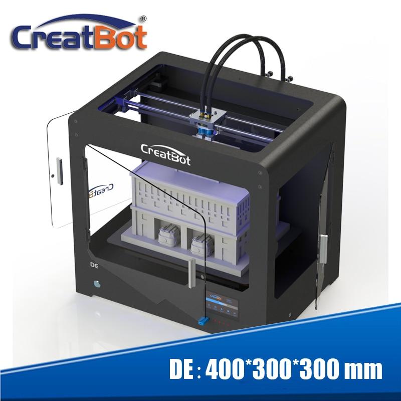 Bezmaksas sūtīšana! Maksimālais apdruka 400 * 300 * 300 mm Creatbot DE03 trīsgalvu 3D printeris DIY KIT ar 3 kg kvēldiegu un apsildāmu platformu
