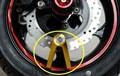 Motorcycle scooter moped disc brake lock anti-theft lock CNC v-shaped lock mountain bike suvs disk brake locks
