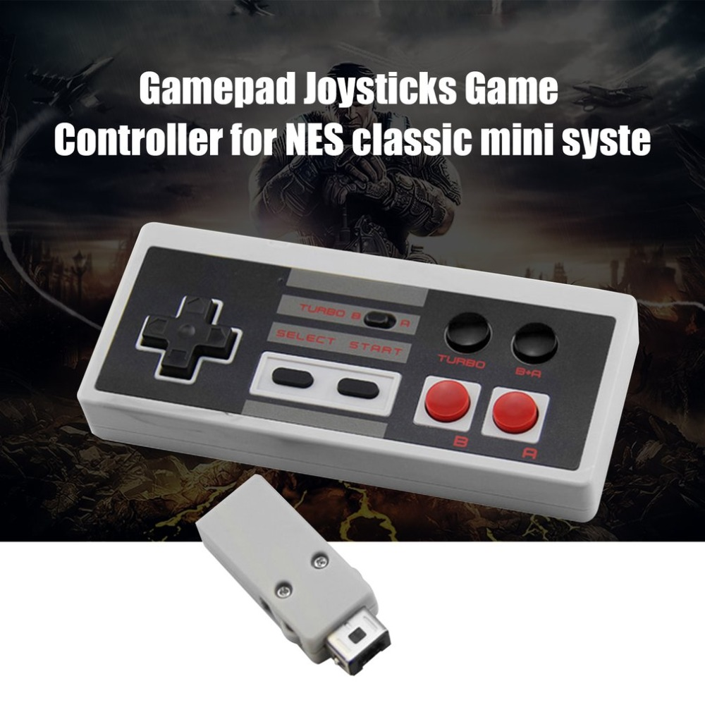 Retro Handheld Game controller 2.4G Wireless Gamepad Gaming pad for Mini NES Built-in 200mah battery