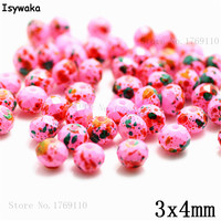 Isywaka 3X4mm 30,000pcs Rondelle Austria faceted Crystal Glass Beads Loose Spacer Round Beads Jewelry Making NO.21