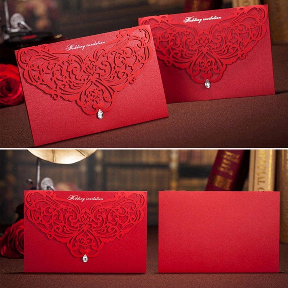 Gift Box Wedding Invitations: 100pcs/lotvery Hot Sale Style Wedding Invitation Card