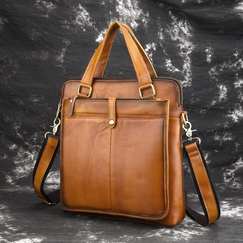 100% Guarantee First Layer Of Cow Leather Men Messenger Bags Soft Genuine Leather Men Handbag Vintage Casual A4 Briefcase