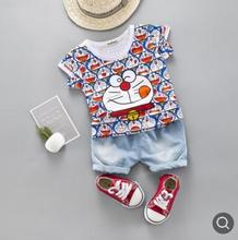 Childrens Set 2019 Summer Short-sleeved Suit Baby Boys Girls Clothes Clothing Toddler SY-F192223