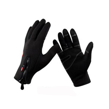 Negro de Esquí guantes de esquí cálido y guantes de equitación guantes de Moto a