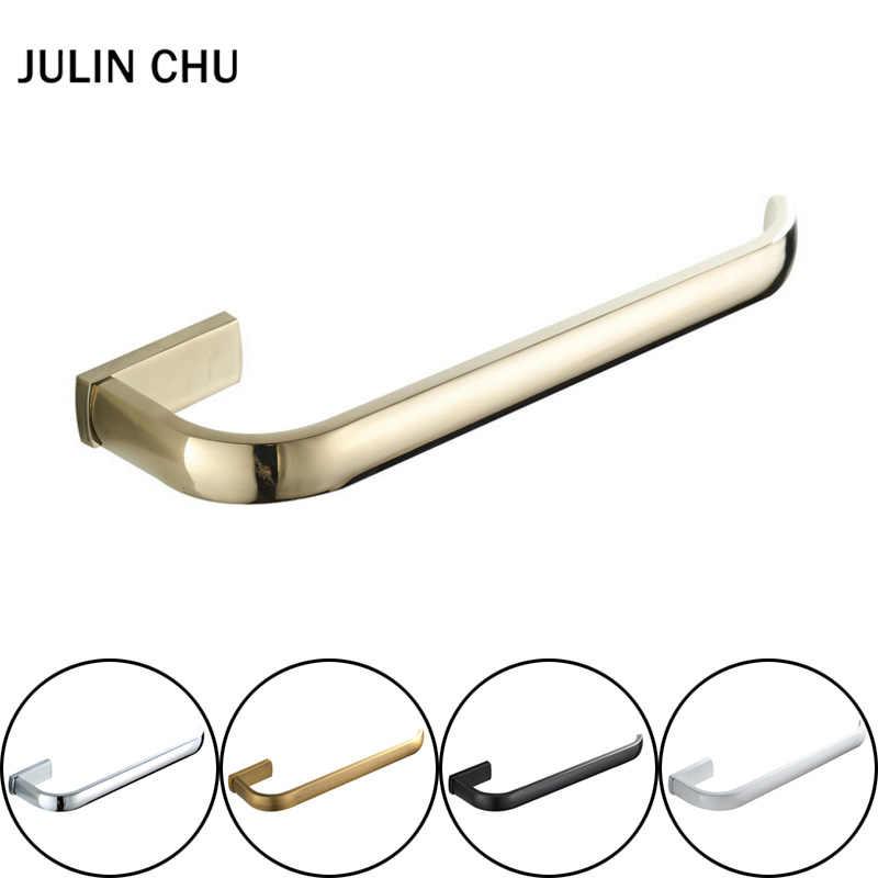 Toalla de mano de 30 cm soporte de anillo blanco negro Barra de toalla de bronce antiguo cromado percha para toallas anillo de oro para accesorios de baño cocina