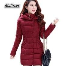 2018 новая зимняя куртка Для женщин толстый пуховик хлопковые парки дамы тонкий теплая куртка мода большой Размеры женские пальто с капюшоном MF002