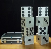 Large Dice Production Case Stage Magic Illusions Magic Tricks Novelties Close Up Comedy Magic Props Magie