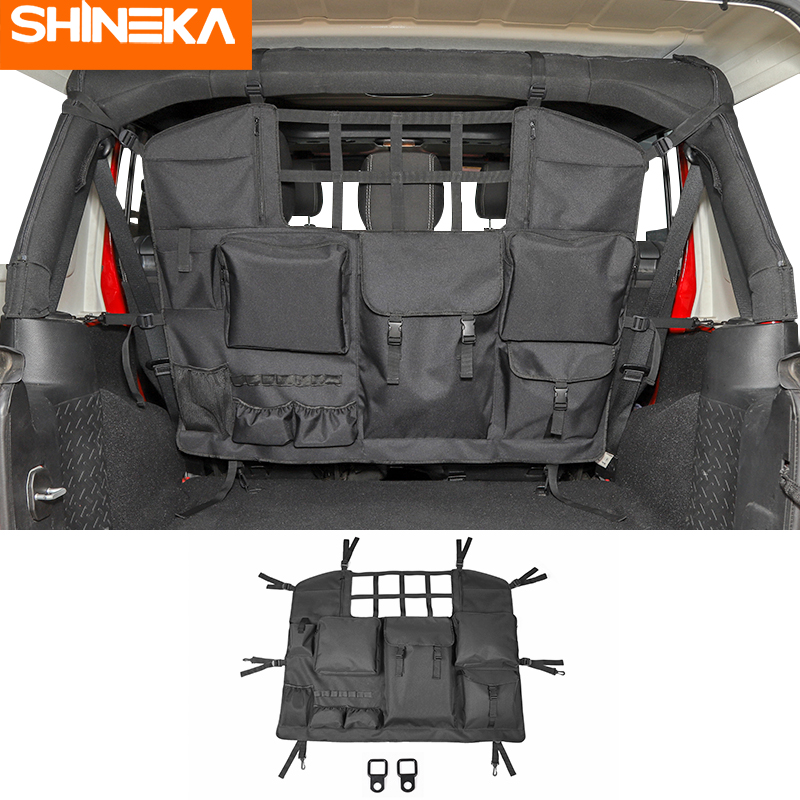 SHINEKA Stowing Tidying For Jeep Wrangler JK JL 2007-2020 Seat Back Storage Bag For Jeep Wrangler Accessories JK JL 2019 2010