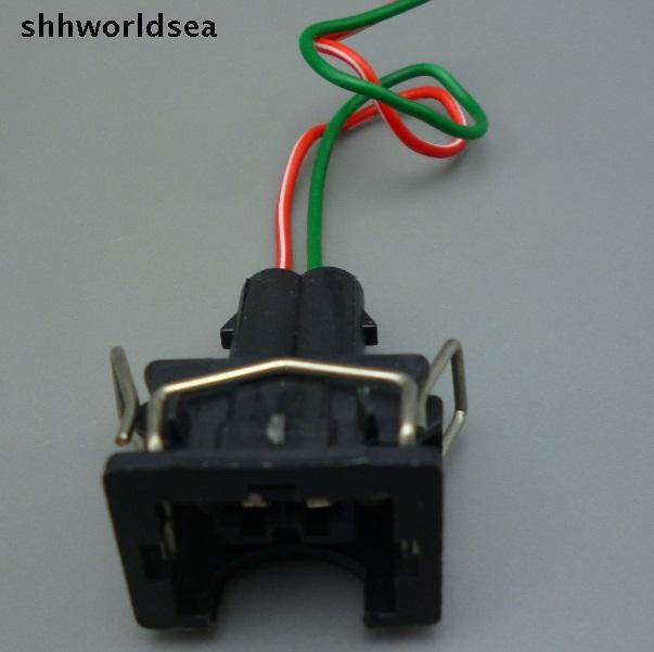 shhworldsea 2 Pin car Wire Harness Connector plug EV1 Fuel ... on 2 wire door jamb switch, two wire connector, 2 screw connector, 2 terminal connector, 2 wire tail lamp socket, 2 pin connector, 2 wire fog light switch, 2 wire starter, 2 tubing connector,