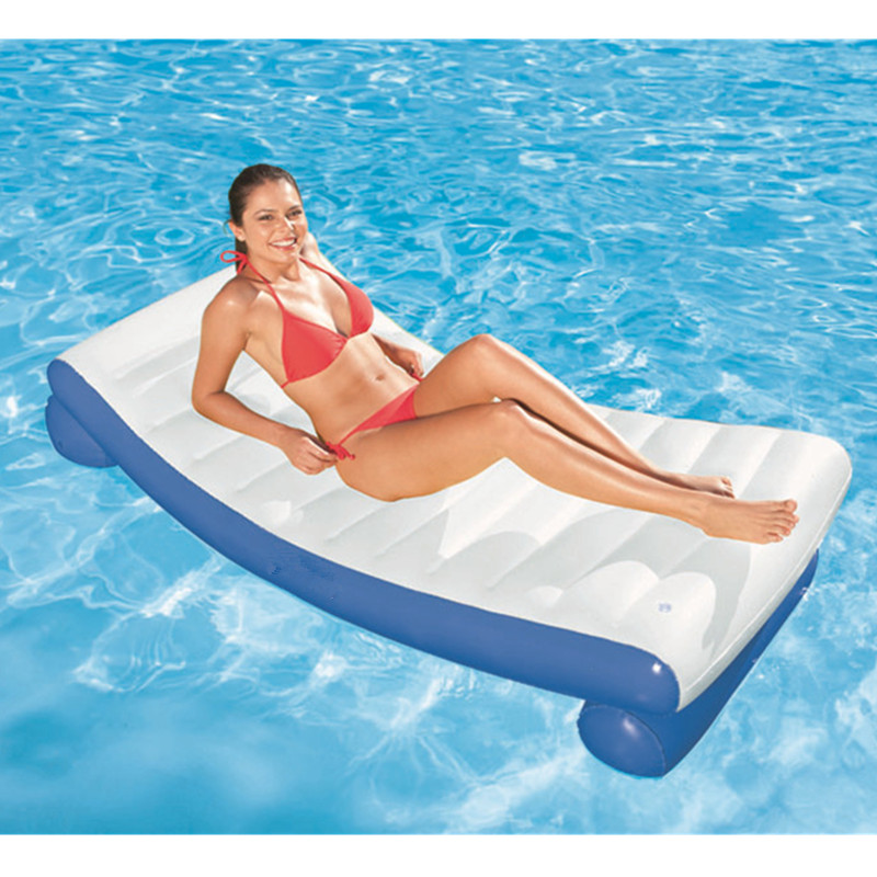 Summer Inflatable Floating Mat Outdoor WATER PARK Sunbathe Recliner Mattress Life Buoy Sea Party Swimming Ring L1886