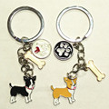 Cute Keychains, jewelry wholesale stores, 100% stainless steel key ring, husky keychain, Christmas gift,