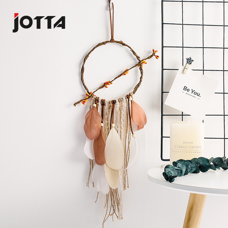 Streamer years catch dream net feather hanging decoration car supplies car accessories repair shop dream net hanging decoration in Wind Chimes Hanging Decorations from Home Garden