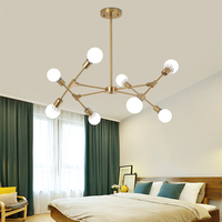 Artpad Nordic Modern Chandelier 6/8/10 Heads E27 Edison Bulb Ceiling Chandelier Lighting Fixture Bedroom Living Room Restaurant