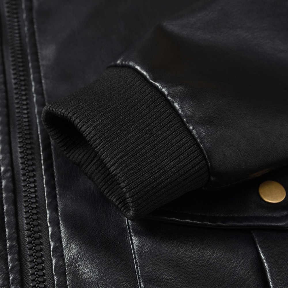 2018 мужская куртка из искусственной кожи пальто Зимние военные куртки-бомберы Мужская Jaqueta Masculina модная куртка искусственная кожа для мужчик пальто