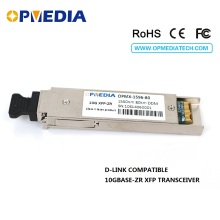 For D-Link 10GBASE-ZR ethernet,10G 1550nm 80km XFP transceiver, DDM funcion,dual LC  connector module