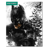 5D Diy Diamond Embroidery Cross Stitch Kits Batman Pattern Picture 3d Diamond Painting Mosaic Making Full
