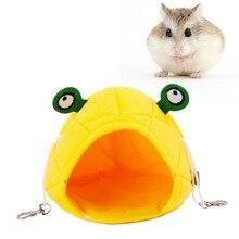 Полезная морская свинка хомяк хлопок Мягкий домик теплый дом с постельным ковриком для маленького пушистого домик для животных