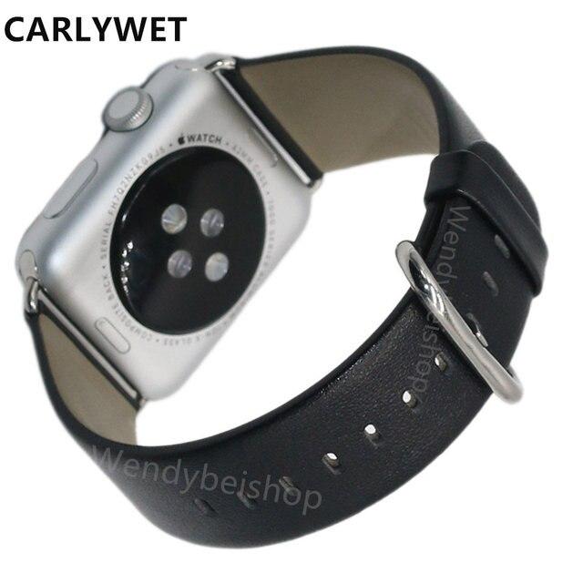Новый Черный Коричневый Мужчины Тканые Реального Телячьей Натуральной Кожи Запястья смотреть Замена Ремешок Ремень Для Apple Watch Iwatch 38 мм 42 мм