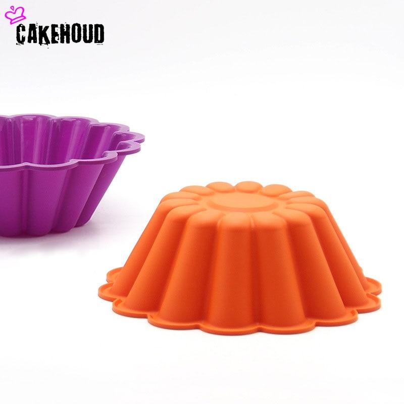 CKEHOUD 8inch silikon Fransız Çiçək Şifon Tort qəlib Pişirmə - Mətbəx, yemək otağı və barı - Fotoqrafiya 2