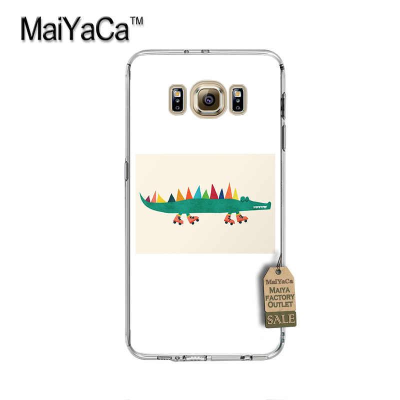 MaiYaCa elefante gigante flowe de lujo PC teléfono duro caso para cubrir Samsung gaxlay s4 s5 s6 s7 s8 caso