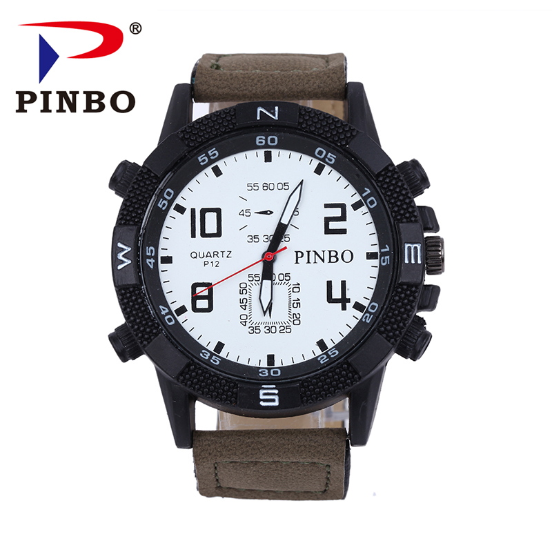 PINBO New listing Men watch Luxury Brand Watches Quartz Clock Fashion Leather belts Watch Cheap Sports wristwatch relogio male new listing pagani men watch luxury brand watches quartz clock fashion leather belts watch cheap sports wristwatch relogio male