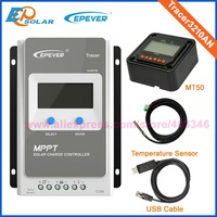 Tracer 3210AN EPsloar 30A MPPT Solar Charge Controller 12V 24V LCD Diaplay EPEVER Regulator with USB communication cable &Sensor
