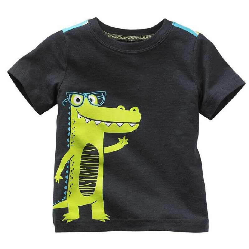 Hooyi 2018 Digger Boys Clothes Shirts Kids T-Shirts Baby Boys Tee Shirts Summer Kid Shirt Top 100% Cotton 6 9 12 18 24 Month