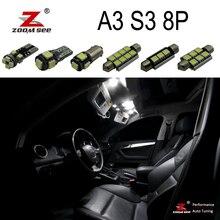 Идеальный без ошибок Canbus Светодиодная Лампочка внутренний Купол Карта светильник комплект для Audi A3 S3 RS3 8P 2 двери и 4 двери(2003-2013