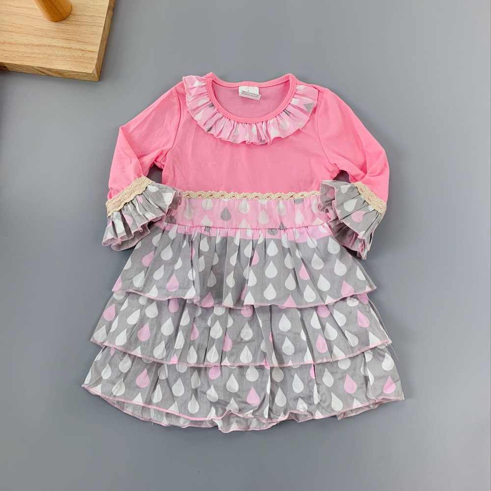 toddlers summer Baby Girls Outfits Infants and Children dresses Girls Ruffles flower frocks for kids puff sleeve knee-length